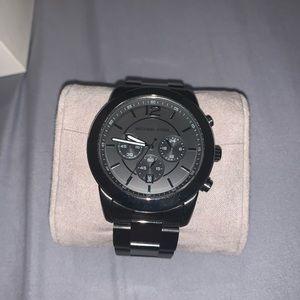 Michael kors dark silver watch
